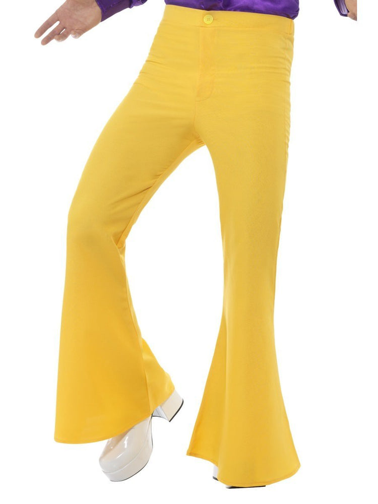 Flared Trousers, Mens, Yellow48192