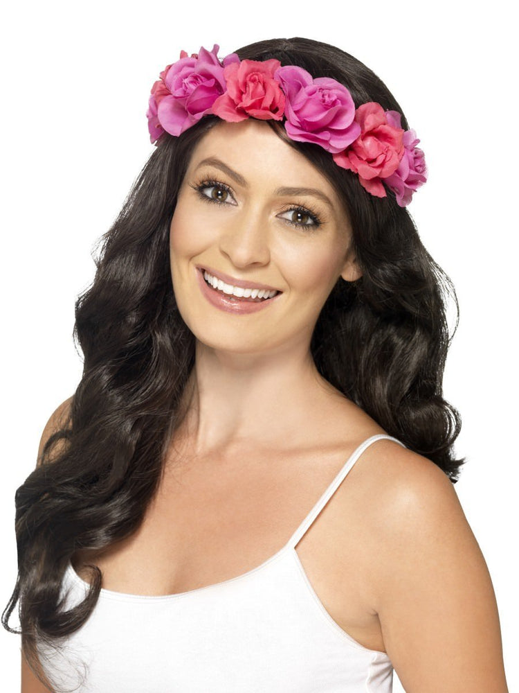 Smiffys Floral Pink Headband - 44489