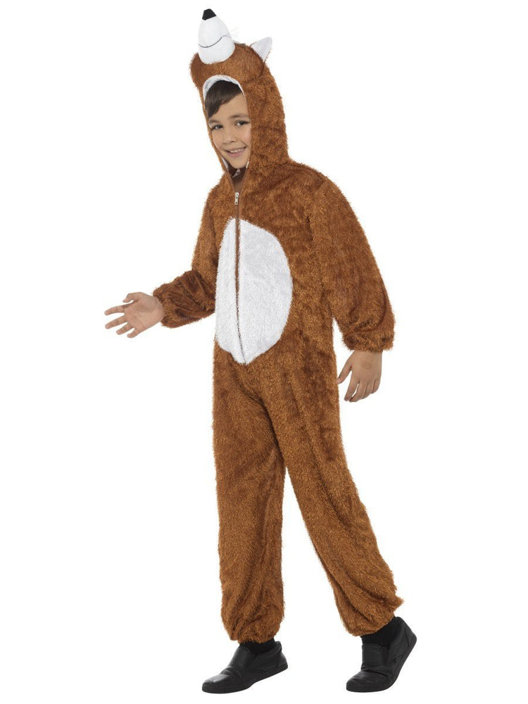 Smiffys Fox Costume, Brown, with Hooded Jumpsuit - 30021