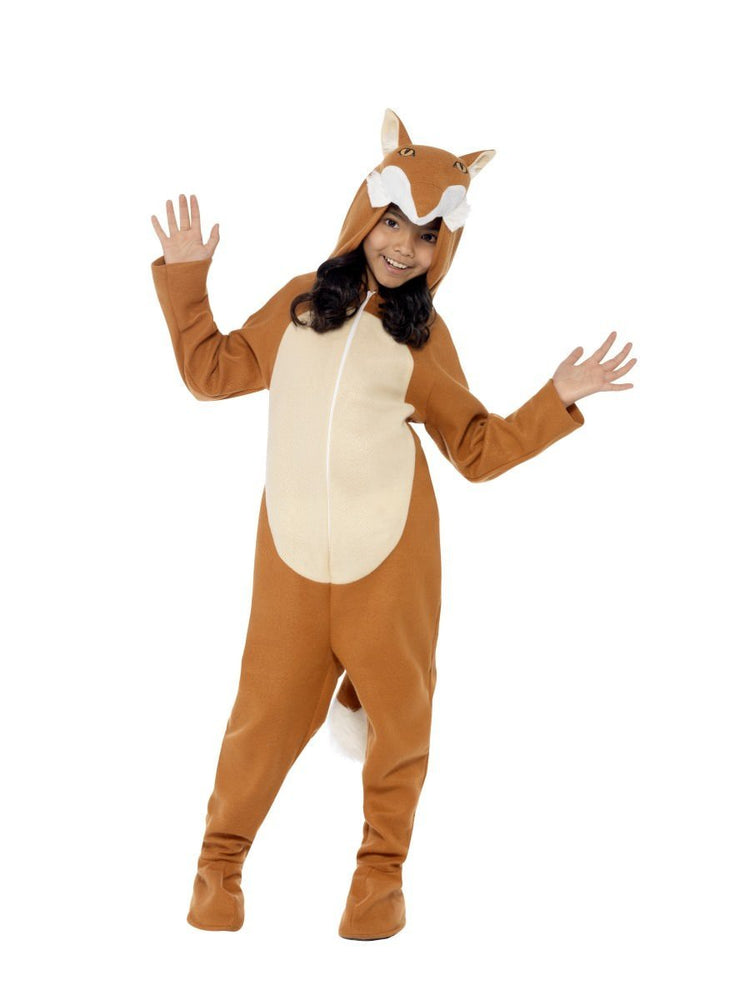Smiffys Fox Costume, Orange, with Hooded All in One & Tail - 44074