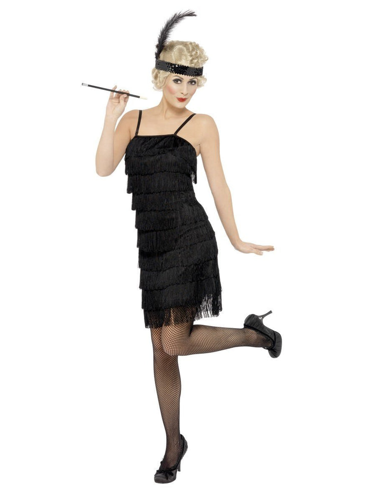 Flapper Costume Deluxe with Fringe