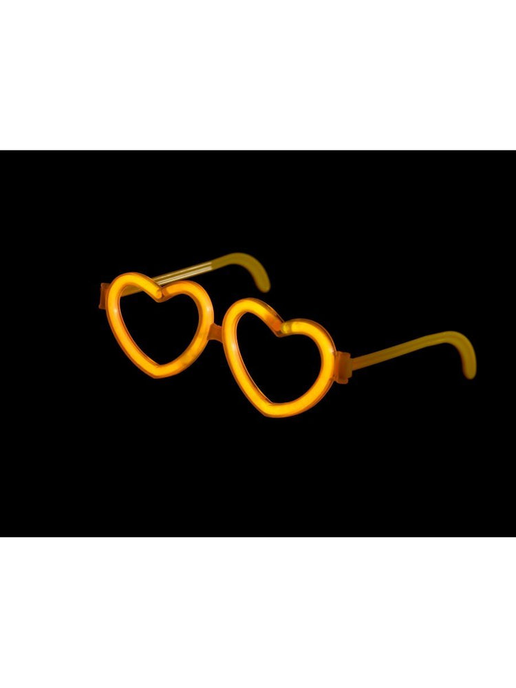 Smiffys Glow Heart Glasses - 22396