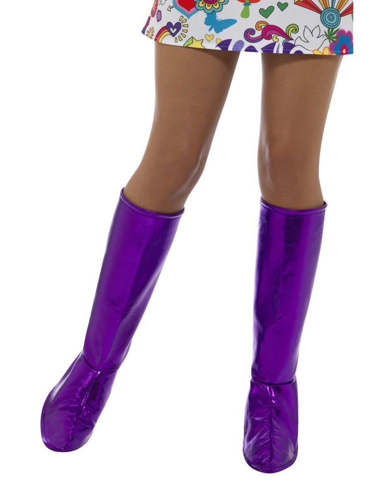 Smiffys GoGo Boot Covers, Purple - 43067