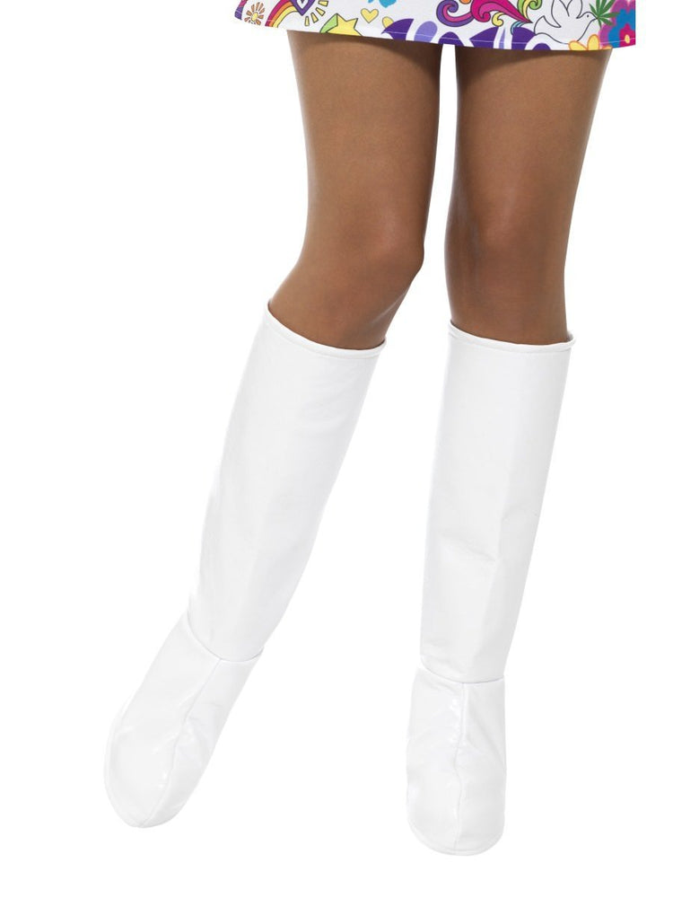Smiffys GoGo Boot Covers, White - 43065