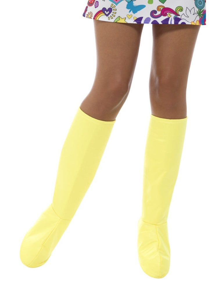 Smiffys GoGo Boot Covers, Yellow - 48045