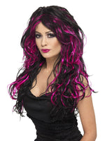 Gothic Bride Wig - Black and Pink