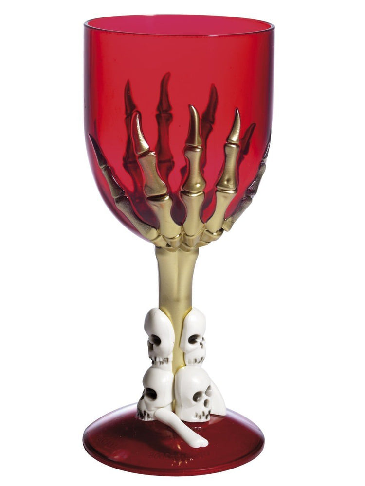 Smiffys Gothic Wine Glass, Red - 35639