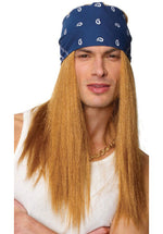 Guns N Roses Rocker Wig with Bandana