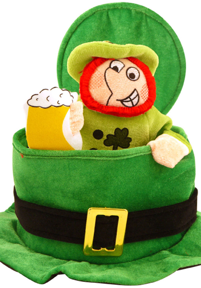 Funny St Patricks Day Hat, Irish Topper Hat with Man