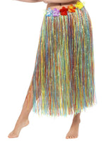 Smiffys Hawaiian Hula Skirt with Flowers, Multi-Coloured - 44591