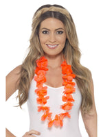 Smiffys Hawaiian Lei, Neon Orange - 45559