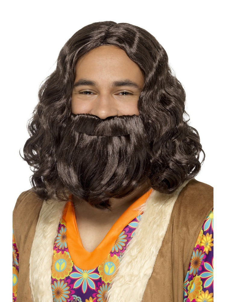 Hippie/Jesus Wig & Beard Set43069