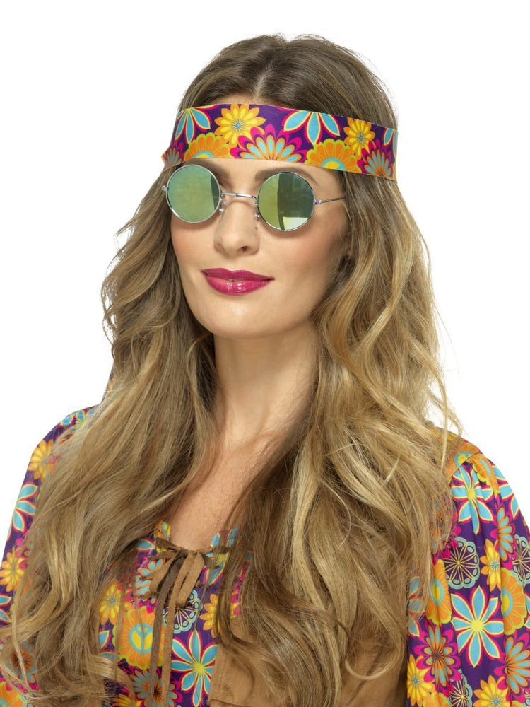 Smiffys Hippie Specs, Mirrored - 43064