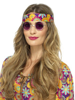 Smiffys Hippie Specs, Purple - 43059