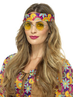 Smiffys Hippie Specs, Yellow - 43061