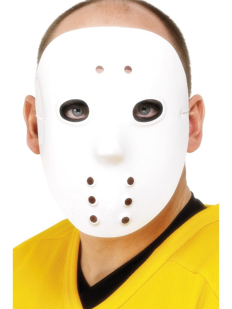 PVC White Hockey Face Mask