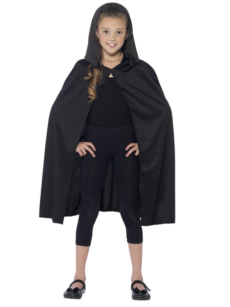 Smiffys Hooded Cape, Black - 44203