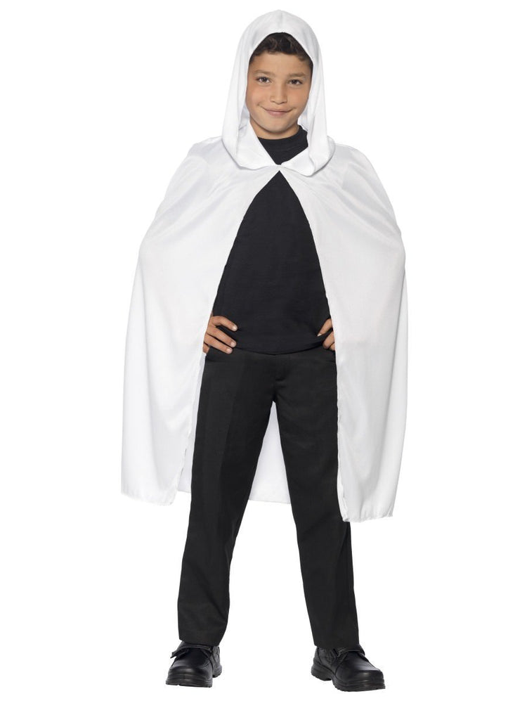 Smiffys Hooded Cape, White - 44201