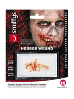 Smiffys Horror Wound Transfer, Zombie Decay - 45003