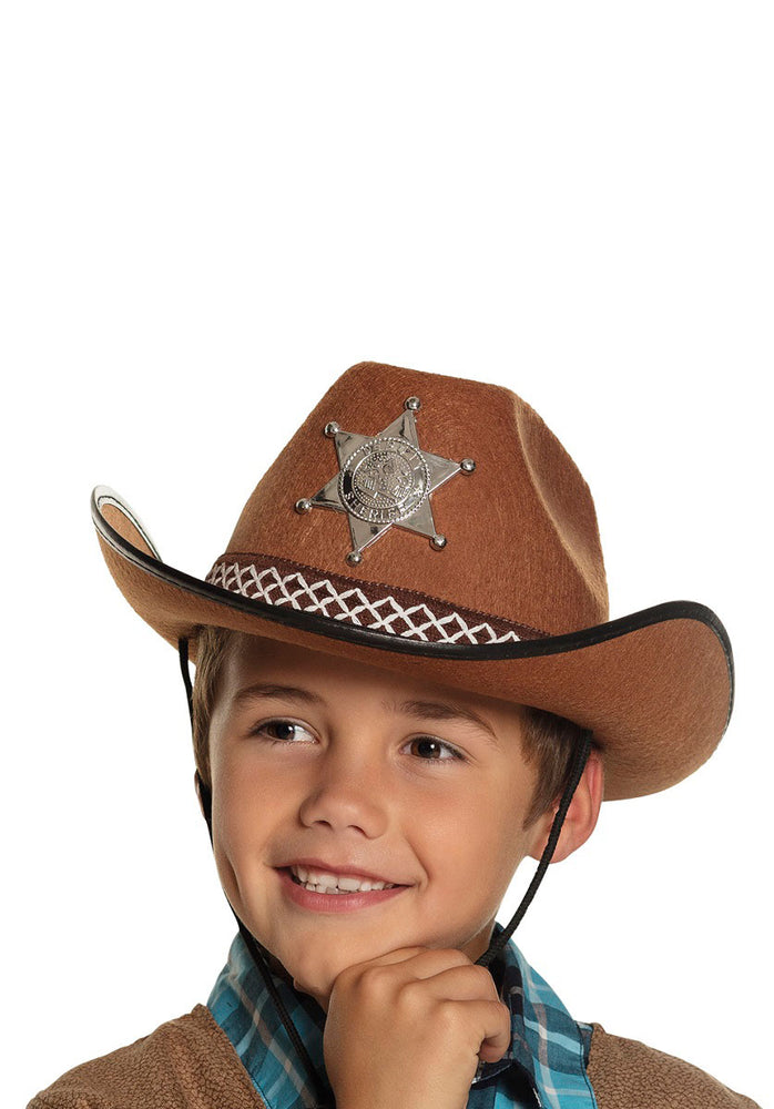 Junior Sheriff Brown Hat - Child