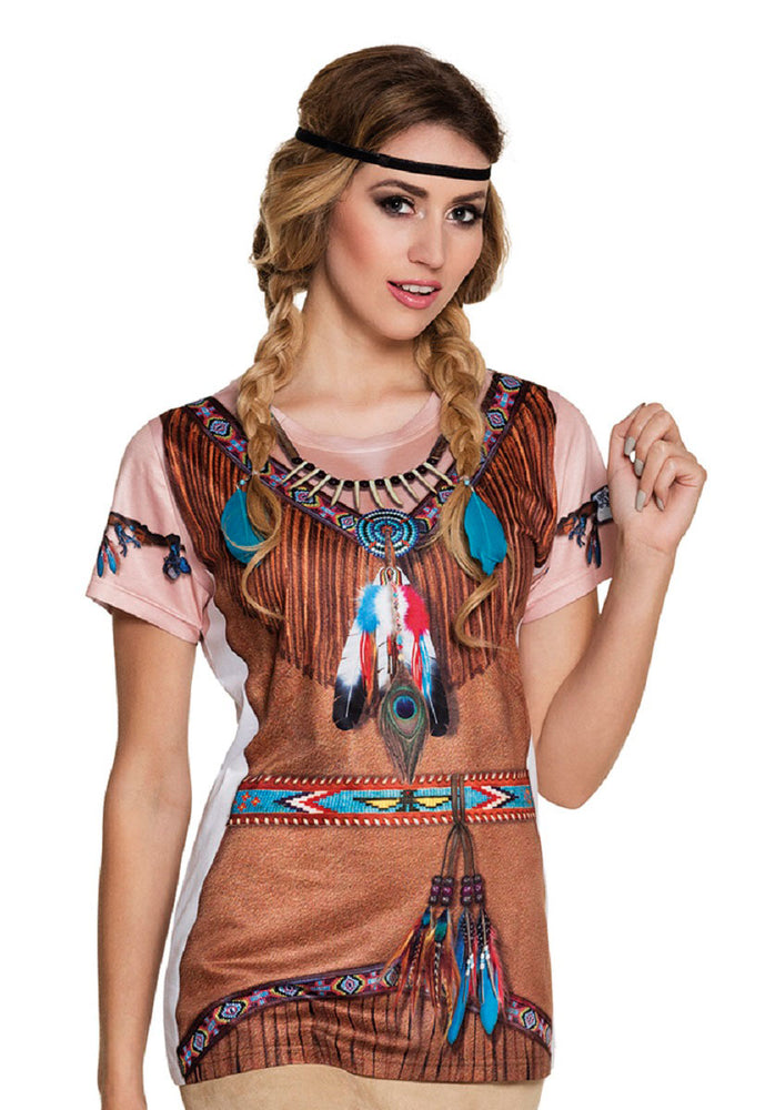 Indian Squaw Photorealistic Shirt