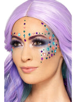 Smiffys Jewel Face Gems, Assorted Colours - 49086