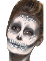 Smiffys Jewel Face Gems, Silver - 49084