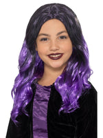 Witch Wig Black & Purple, Child