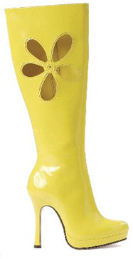 Boots Knee High GoGo Yellow UK 4 US 7