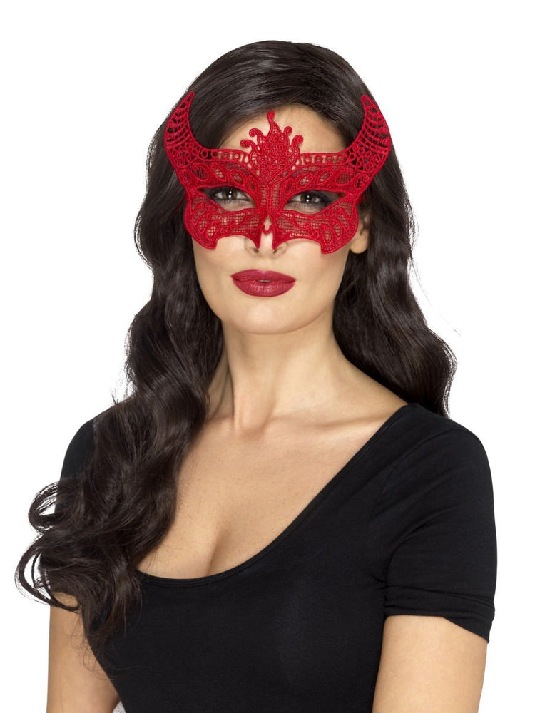 Lace Filigree Devil Mask
