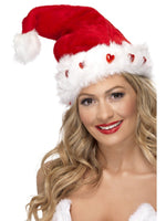 Flashing Hearts Santa Hat