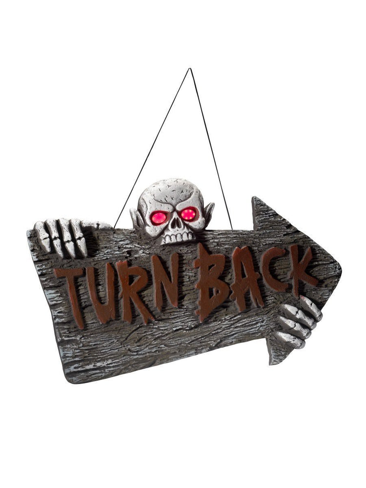 Smiffys Light Up Turn Back Hanging Sign - 48235