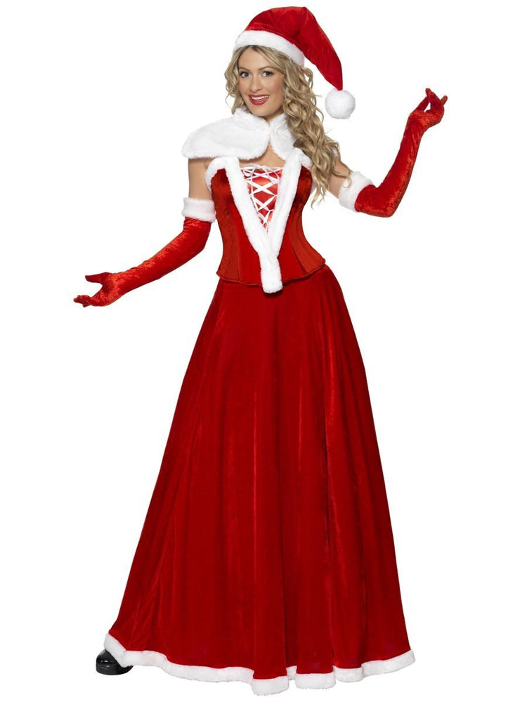 Mrs Santa Costume Long Dress