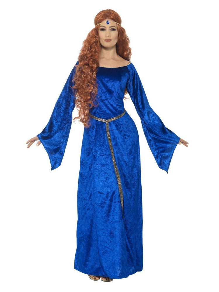Smiffys Medieval Maid Costume, Blue - 44683