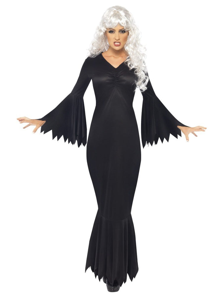 Vamp Costume Black Gown And Veil