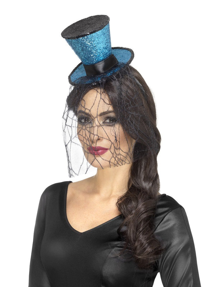 Smiffys Mini Gothic Top Hat on Headband - 48058