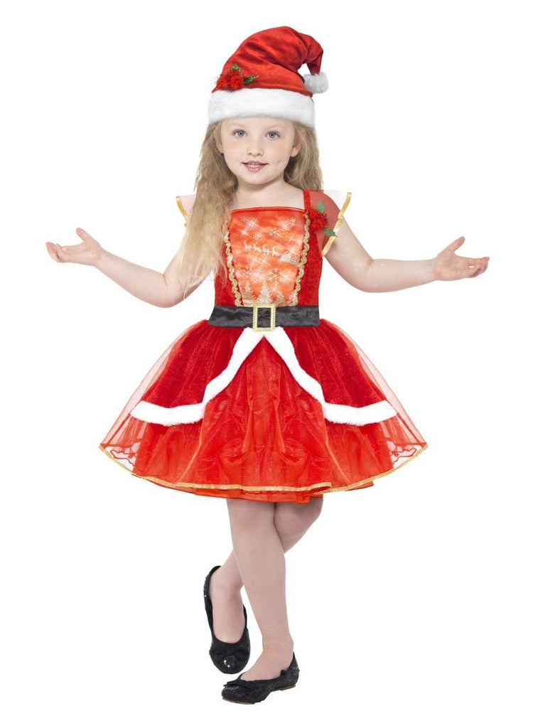 Smiffys Miss Santa Costume, Child - 21832
