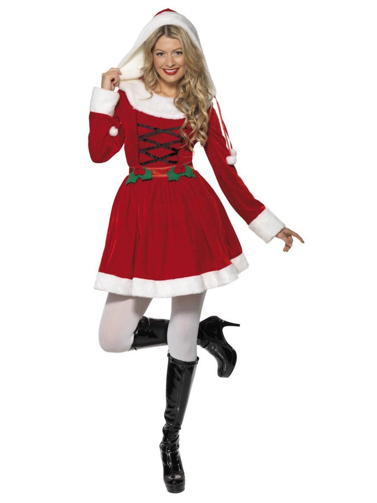 Miss Santa Hooded Costume