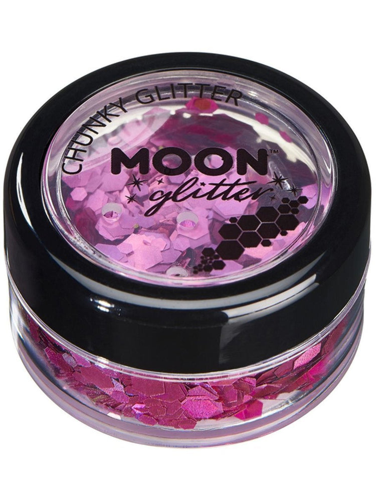 Moon Glitter Holographic Chunky Glitter - Pink