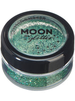 Moon Glitter Holographic Glitter Shakers - Green