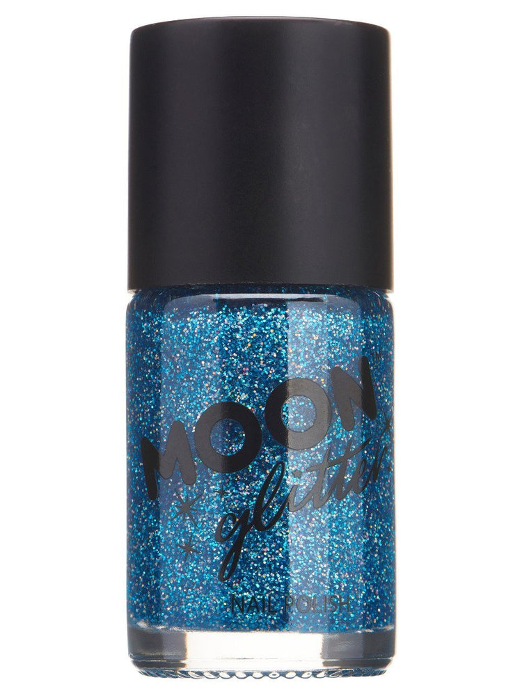 Moon Glitter Holographic Nail Polish - Blue