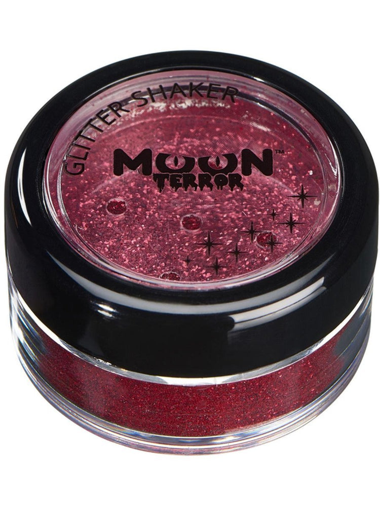 Moon Terror Halloween Glitter Shakers - Red