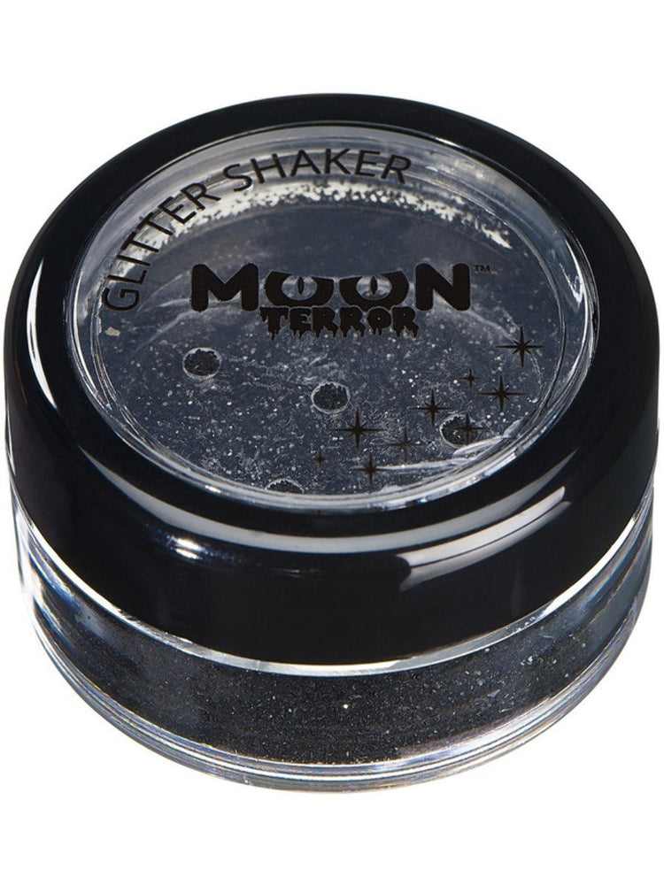 Moon Terror Halloween Glitter Shakers - Black
