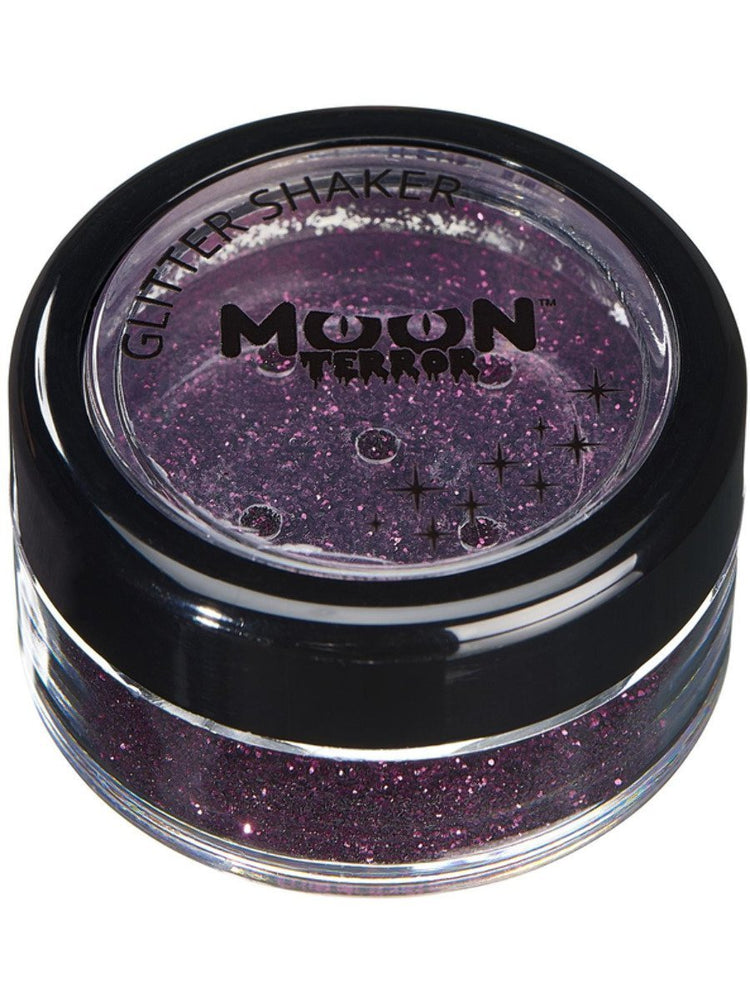 Moon Terror Halloween Glitter Shakers - Purple