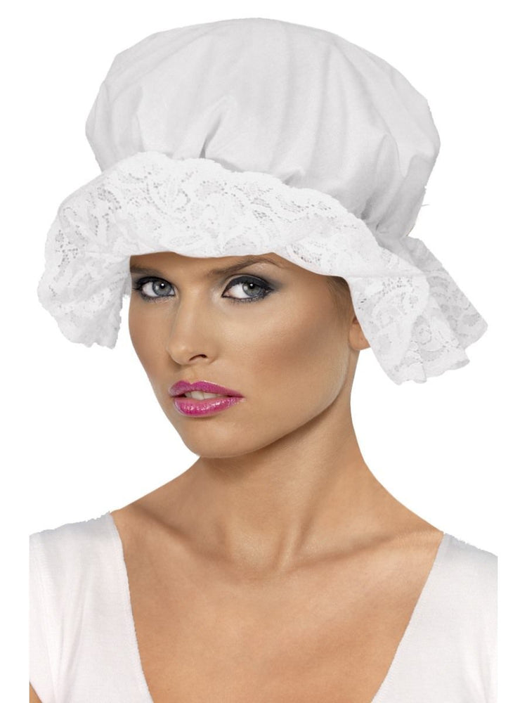 Mop cap white lace