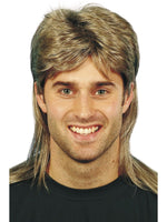 Mullet Wig, Brown & Blonde