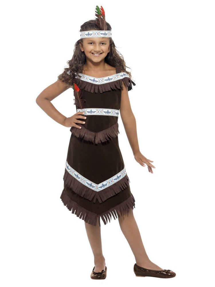 Smiffys Native American Inspired Girl Costume with Feather - 41096