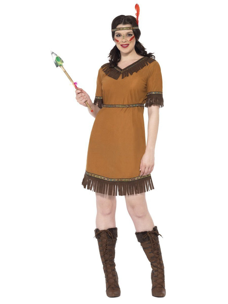 Smiffys Native American Inspired Maiden Costume - 20458