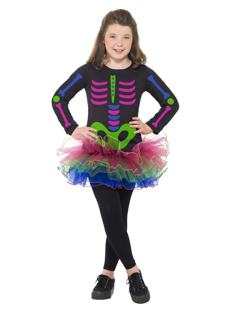 Smiffys Neon Skeleton Girl Costume - 24387