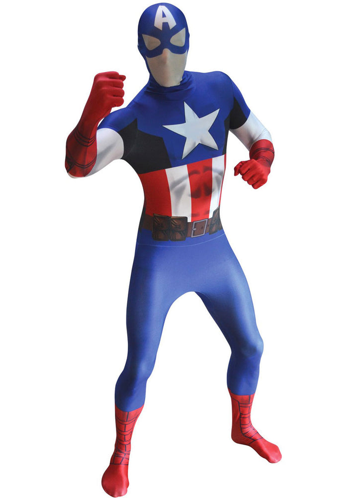 Adult Captain America Morphsuit Costume